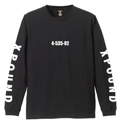 TSURIBU XPOUD  L/S T-SHIRT (BLACK)