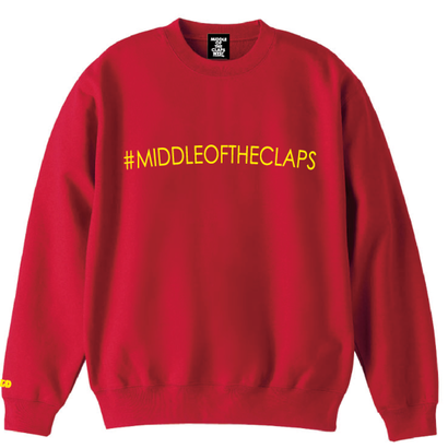 #MIDLLE OF THE CLAPS SWEAT (RED)