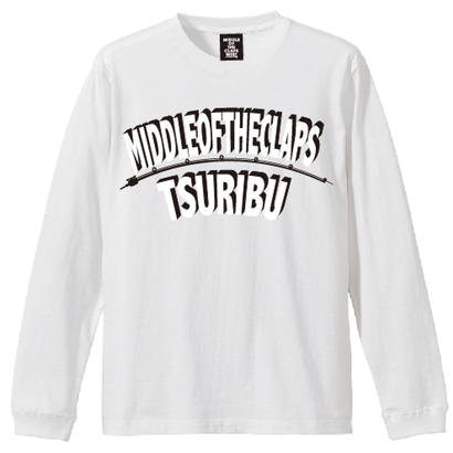 TSURIBU ARCH  L/S T-SHIRT  (WHITE×WHITE)