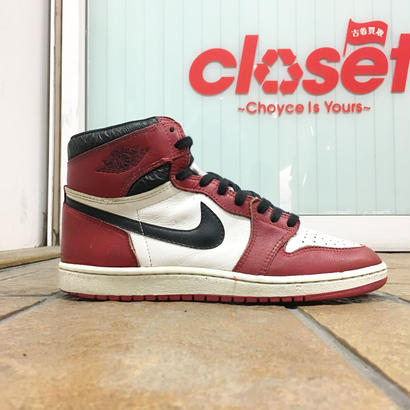 "NIKE / Vintage Air Jordan 1 size : US9.5 ""Chicago"" 1985年製"