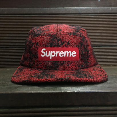 SUPREME / Jacquard Snake Camp Cap RED 2014A/W