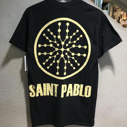 """KANYE WEST """"THE LIFE OF PABLO TOUR"""" / SAINT PABLO TEE size : L BLK"""