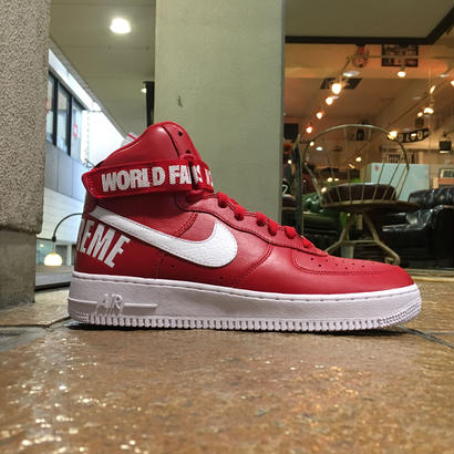 SUPREME×NIKE / AIR FORCE 1 HIGH SUPREME SP size : US10 RED