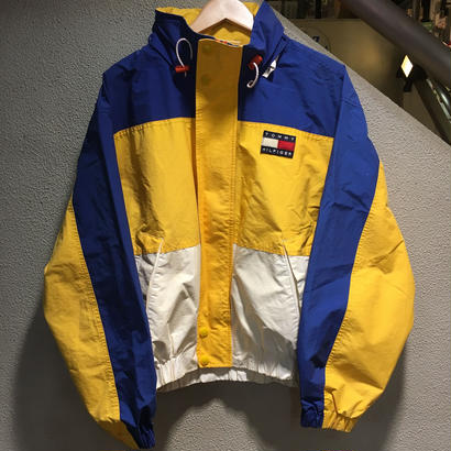 TOMMY HILFIGER / 90's Sailing Jacket size : L YLW/BLU/WHT