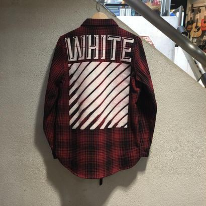 OFF WHITE / Tartan Shirt size : XS RED