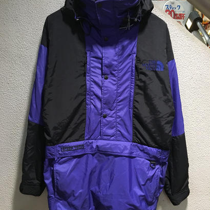 THE NORTH FACE / 90's VINTAGE STEEP TECH, HOODED  NYLON PULLOVER JACKET size : S BLU/BLK
