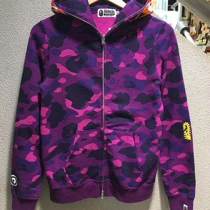 """A BATHING APE / COLOR CAMO TIGER FULL ZIP HOODIE size : S PRP """"2016S/S"""""""