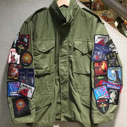 Vintage Band Patch Custom Militarry Jacket size : -- OLV