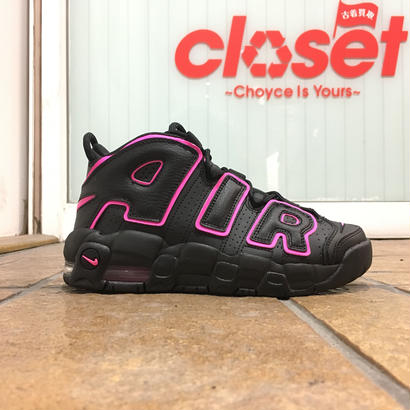 NIKE / AIR MORE UPTEMPO '96 GS size : US5Y (23.5cm) BLK/PNK