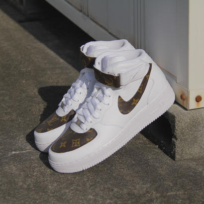NIKE / AIR FORCE 1 MID LV CUSTOM White