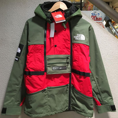 "SUPREME×THE NORTH FACE / Steep Tech Hooded Jacket size : S OLV/RED ""2016S/S"""