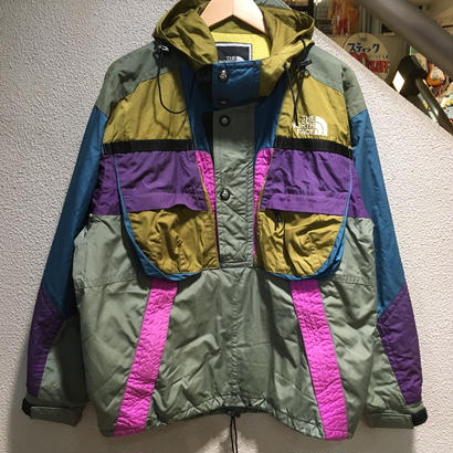 THE NORTH FACE / 90's VINTAGE, SKI NYLON PULLOVER HOODED JACKET size : L MLT