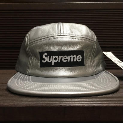 "SUPREME / Leather Camp Cap SLV ""2016A/W"""