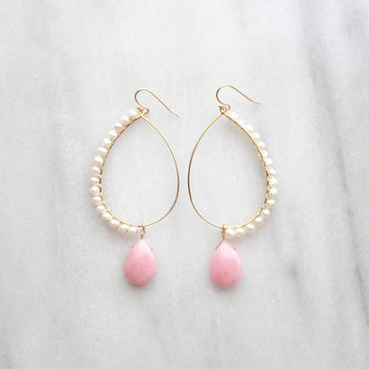 Drop hoop pink
