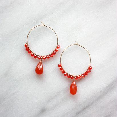 circle hoop Orange