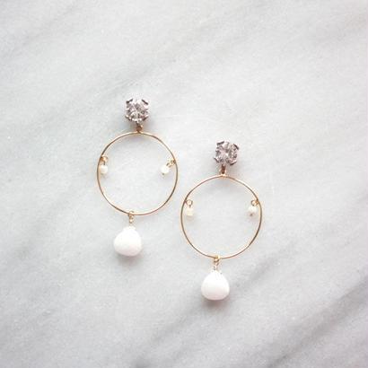 circle hoop White