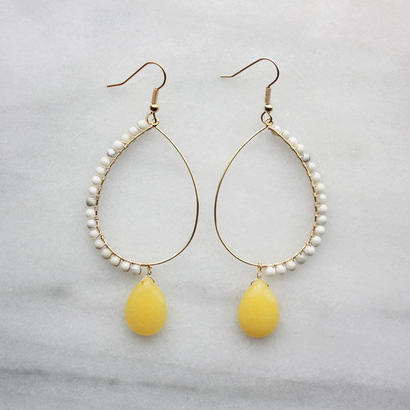 Drop hoop yellow