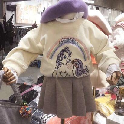 虹ポニー トレーナー&シャツ付