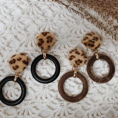 Leopard  ring earrings
