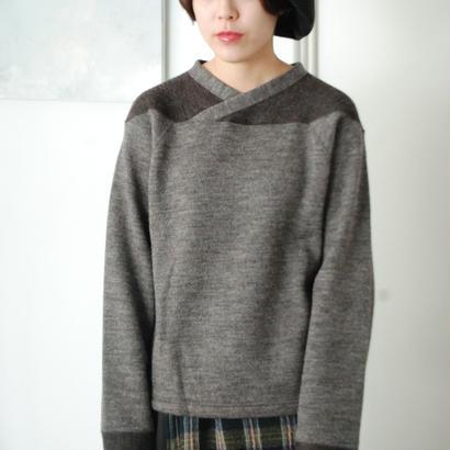 ANITYA/Football Knit Pullovers(brown)