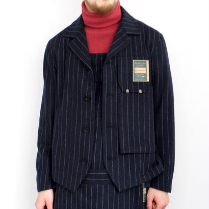ASEEDONCLOUD Handwerkers/work jacket wool stripe(navy)