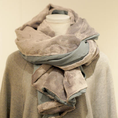 3tsui/2WAY muffler(gray×blue)