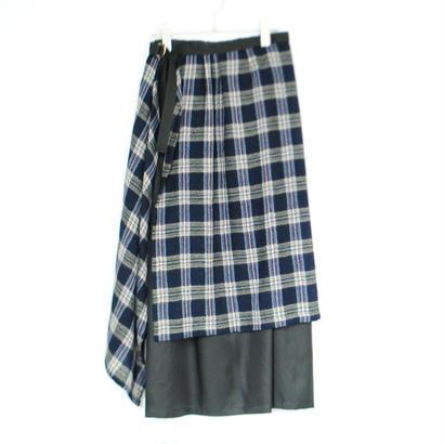 ANITYA/Wrap skirt(navy)