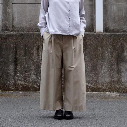 hatsutoki/cotton-gabardine wide pants(beige)