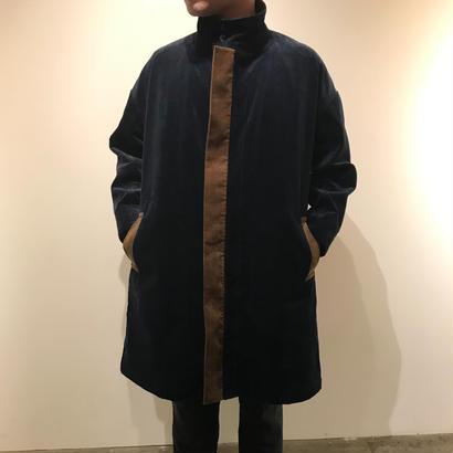 Hiroyuki Watanabe/コーデュロイ晴着コート ( navy×brown)