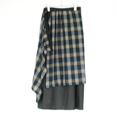 ANITYA/Wrap skirt(green)