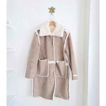 reversible eco fur coat