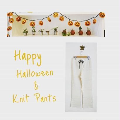 Knit pattern pants