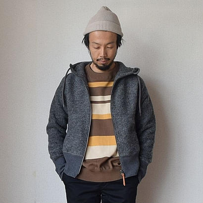Re made in tokyo japan CLASSIC WOOL ZIP PARKA CCL クラシック ウール ジップパーカー チャコール