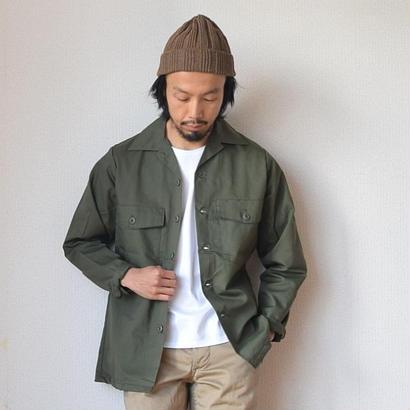 【春のシャツジャケット】DEADSTOCK デッドストック 米軍 80年代 ファティーグシャツ オリーブ