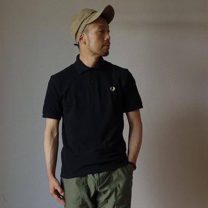 """M3""THE ORIGINAL FREDPERRY SHIRT オリジナル ノーライン ポロシャツ BLK ブラック 英国製【正規取り扱い品】"