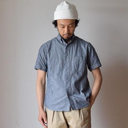 【完売御礼】nisica S/S B.D SHIRT DUNGAREE ニシカ 半袖ボタンダウンシャツ ダンガリー