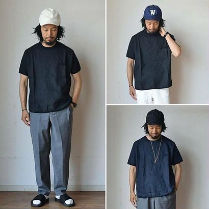 【新色ブラック追加!】Re made in tokyo japan フレンチリネン シャツT ブラック/ホワイト/ネイビー