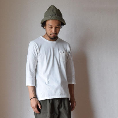 Re made in tokyo japan THREE QUARTER SLEEVE POCKE TEE WHT 七分袖ポケットTシャツ ホワイト