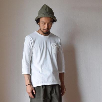 【2017春夏新作】Re made in tokyo japan THREE QUARTER SLEEVE POCKE TEE WHT 七分袖ポケットTシャツ ホワイト