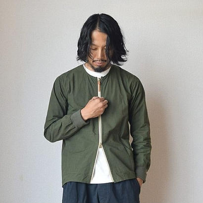 【スマートシルエットの秋アウター】Re made in tokyo japan クルーカーディガン オリーブ