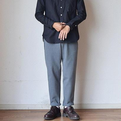【昨年パンツ部門ナンバー1ヒット!】LA MOND フレンチ リラックス パンツ グレー/ブラック