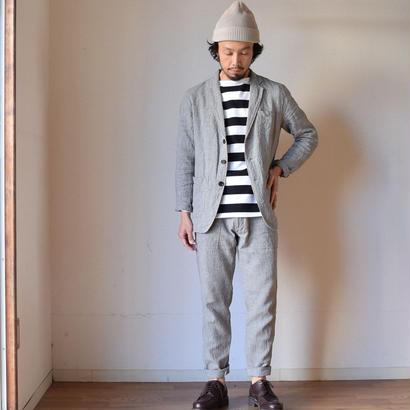 【2017春夏新作】F.O.B FACTORY リネン テーラードジャケット&ベイカーパンツ グレー【セットアップ】
