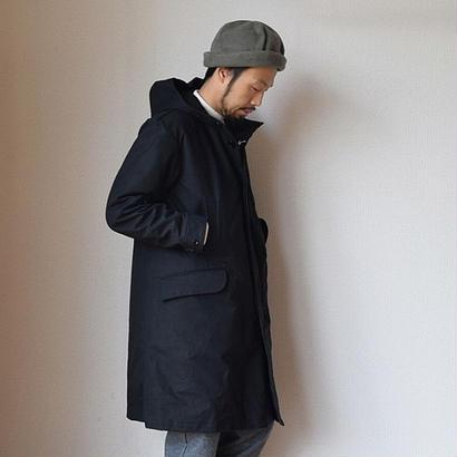 【完売御礼】STILL BY HAND HOODED COAT BLK スティルバイハンド  高密度コットン ライナー付きフードコート ブラック