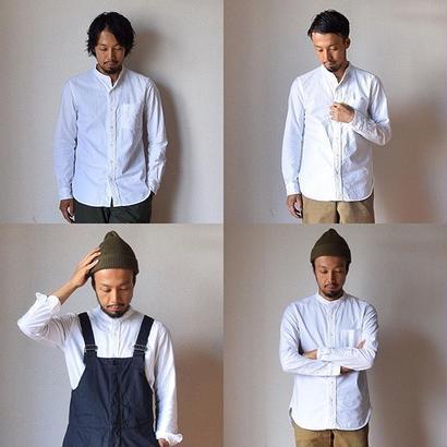 【残り僅かとなりました!】MANUAL ALPHABET マニュアルアルファベット プレミアムオックスバンドカラーシャツ ホワイト