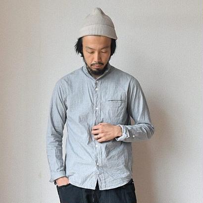 【完売御礼】nisica  ニシカ スモールスタンドシャツ 杢グレー