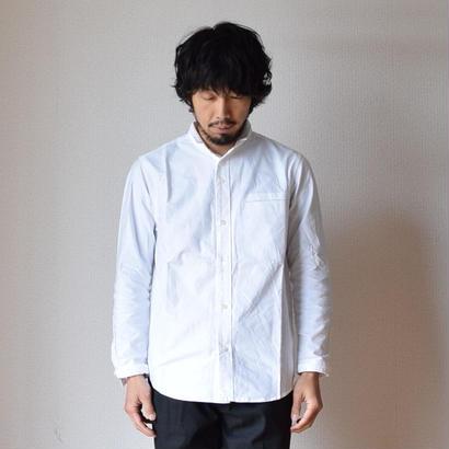 【2017秋冬新作】nisicamokusiro  SMALL STAND SHIRT WHTスモールスタンドシャツ ホワイト