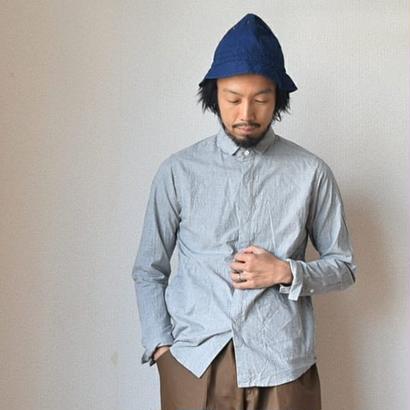 【ミニマルカラーのポケット付シャツ】nisica  ニシカ 比翼シャツ 杢グレー