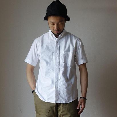 【完売御礼】nisica  B.D SHIRT SHORT SLEEVE WHT ボタンダウンシャツ半袖 ホワイト