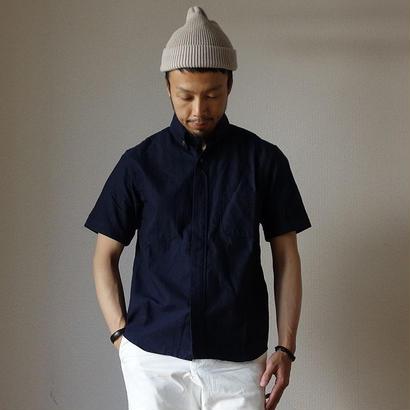 【完売御礼】nisica B.D SHIRT SHORT SLEEVE NVY  ニシカ ボタンダウンシャツ半袖 ネイビー