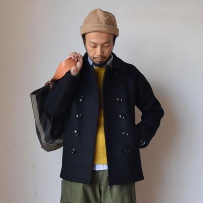 【2017秋冬新作】nisica WOOL MELTON P-COAT BLK  ニシカ ウール メルトン ピーコート ブラック